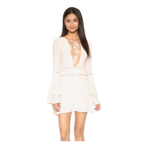 FOR LOVE & LEMONS Emelia dress - Exclusive to Shopbop. A mesh panel with floral embroidery...