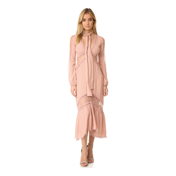 FOR LOVE & LEMONS lilou dress - Panels of crepe and lace lend dimension to this fluid For...