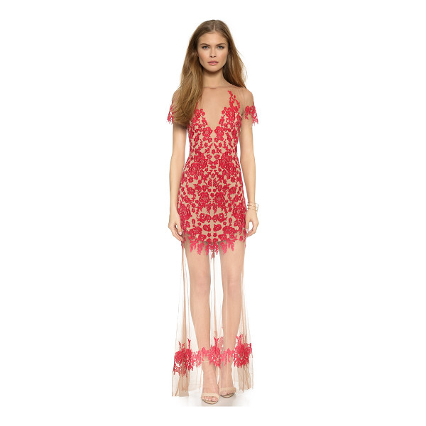 FOR LOVE & LEMONS Luau maxi dress - Contrast embroidery brings a pop of color to this For Love...
