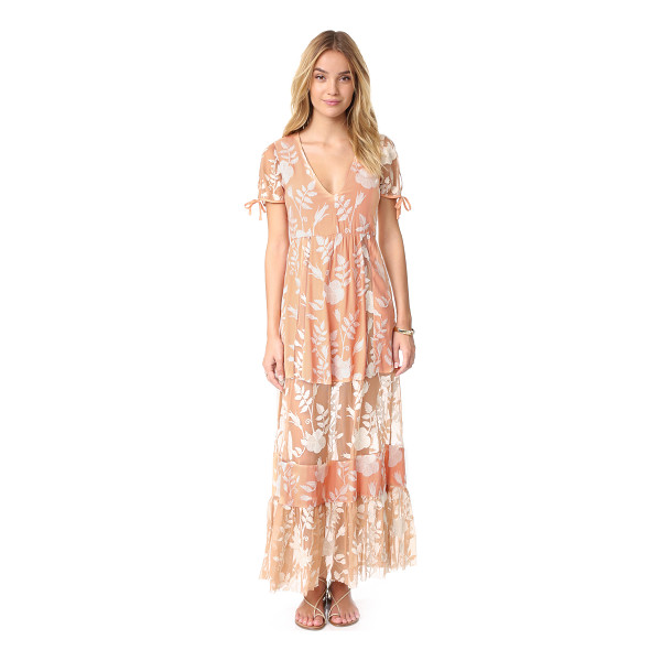 FOR LOVE & LEMONS mia maxi dress - Floral embroidery accents this For Love & Lemons maxi...