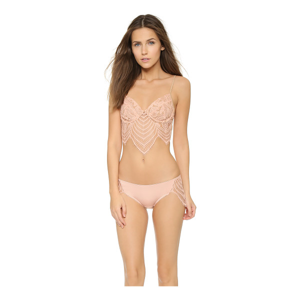FOR LOVE & LEMONS Snapdragon underwire bra - A draped lace panel sits below the underwire cups of this...