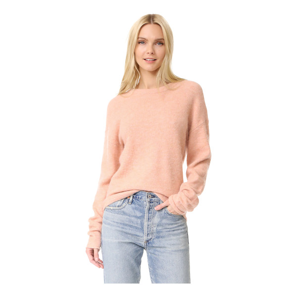 FRAME boxy boyfriend sweater - A crew-neck FRAME sweater with a soft feel. Long sleeves....