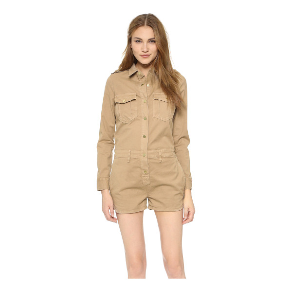 FRAME Citadel romper - A FRAME romper with a utilitarian look. Snaps close the...