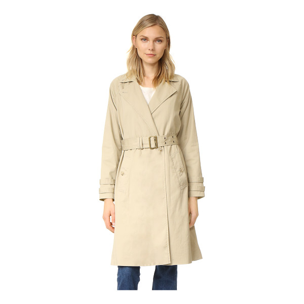 FRAME classic trench coat - A FRAME trench coat with timeless appeal. Notched lapels...