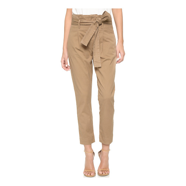 FRAME Le skinny paper bag trousers - An optional tie accentuates the high, paperbag waist on...