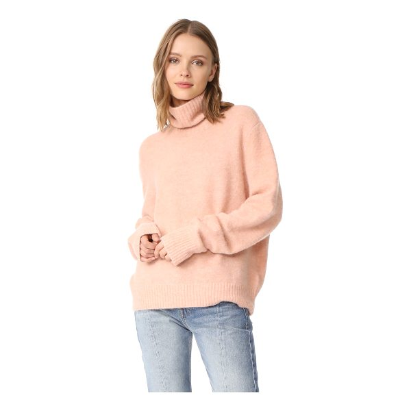 FRAME slouchy turtleneck sweater - This relaxed FRAME turtleneck sweater has a brushed finish...