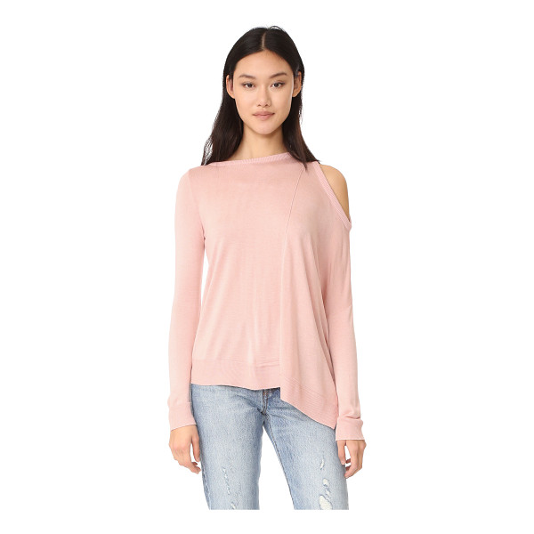 FRED AND SIBEL one shoulder top - A soft, fine-knit Fred and Sibel sweater in an asymmetrical...