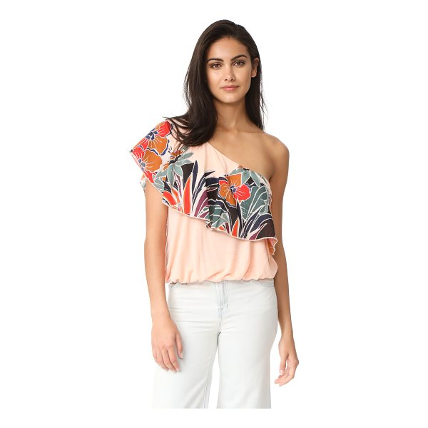 FREE PEOPLE annika bubble top - An airy Free People top with cutwork floral appliqués at...
