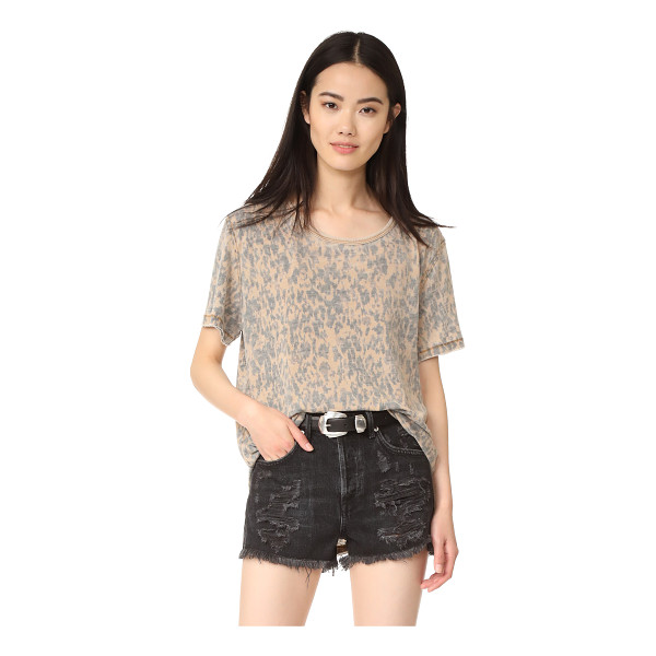 FREE PEOPLE army tee - A leopard-print Free People tee in a relaxed silhouette....