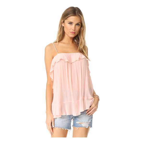 FREE PEOPLE cascades cami - A voluminous Free People cami with charming ruffles at the...