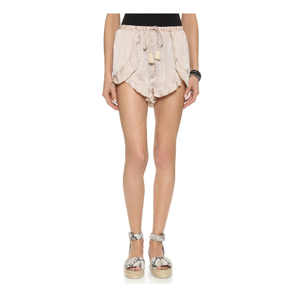 FREE PEOPLE Cascading petal shorts - Lightweight Free People shorts, styled with draped overlays...