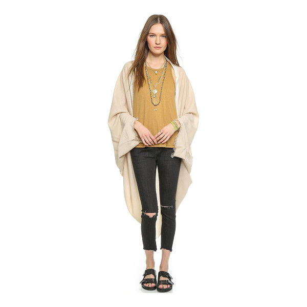 FREE PEOPLE Cocoon wrap - A soft Free People wrap, styled with contrast trim and...