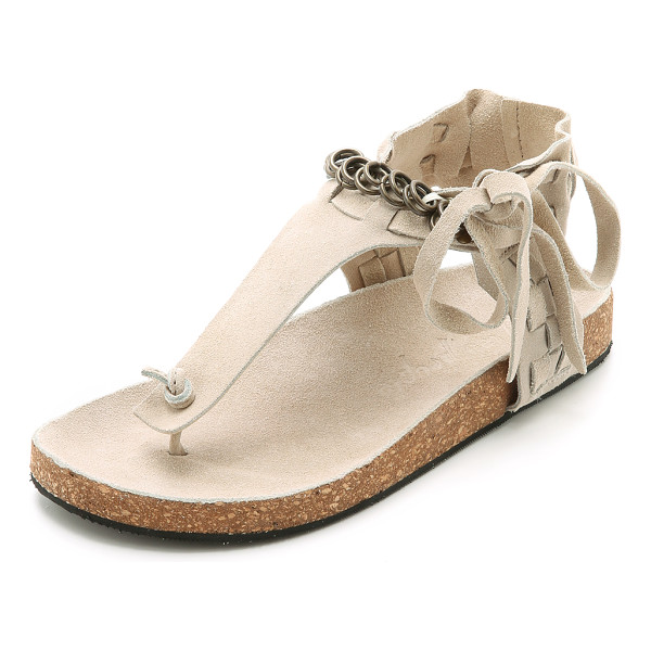 FREE PEOPLE Collins sandals - A soft, molded cork footbed lends all day comfort to...