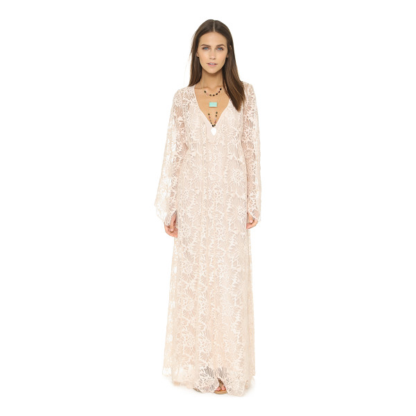FREE PEOPLE Cool & sensual lace maxi dress - A voluminous Free People maxi dress with a unique burnout...