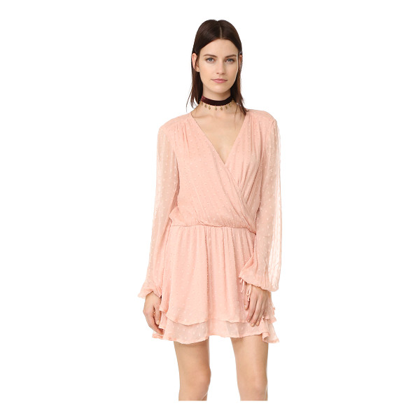 FREE PEOPLE dahlia mini dress - A romantic Free People mini dress with a deep surplice...