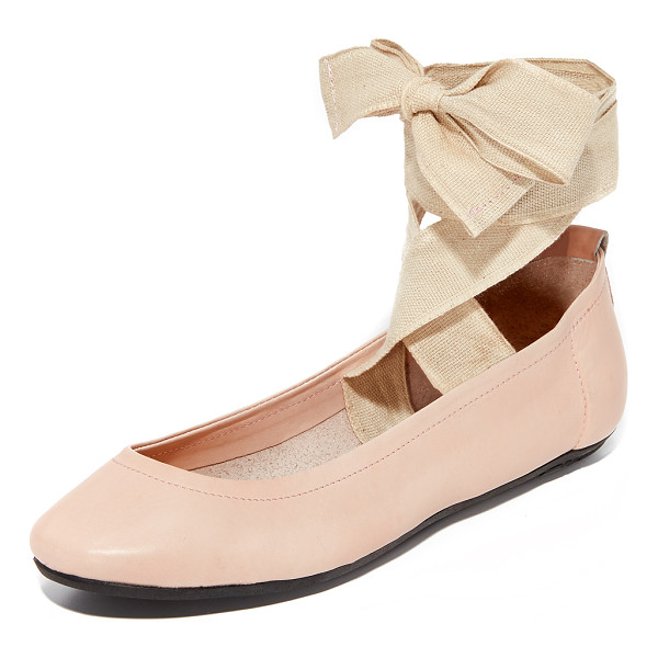 FREE PEOPLE degas ballerina flats - Supple leather Free People flats styled with wide canvas...
