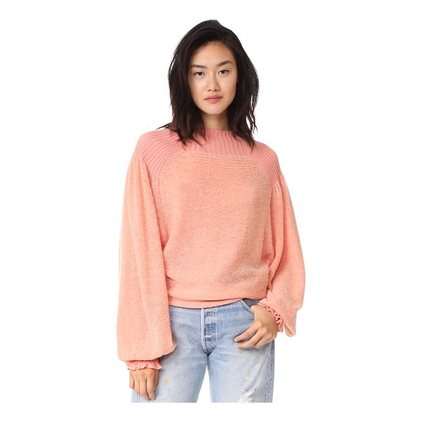 FREE PEOPLE elderflower sweater - This slouchy Free People sweater is detailed with a ribbed...