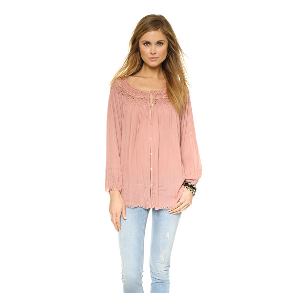 FREE PEOPLE Eyes open top - Ruching accentuates the fluid swing of this airy Free...