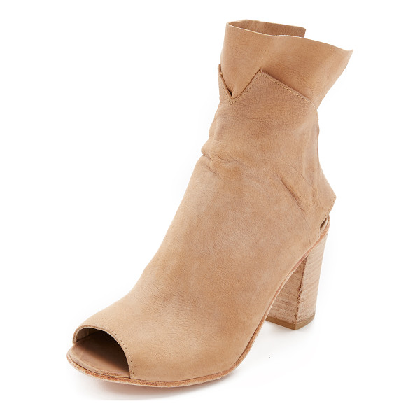 FREE PEOPLE Golden road heeled booties - A double layered, slouchy cuff and a heel cutout detail