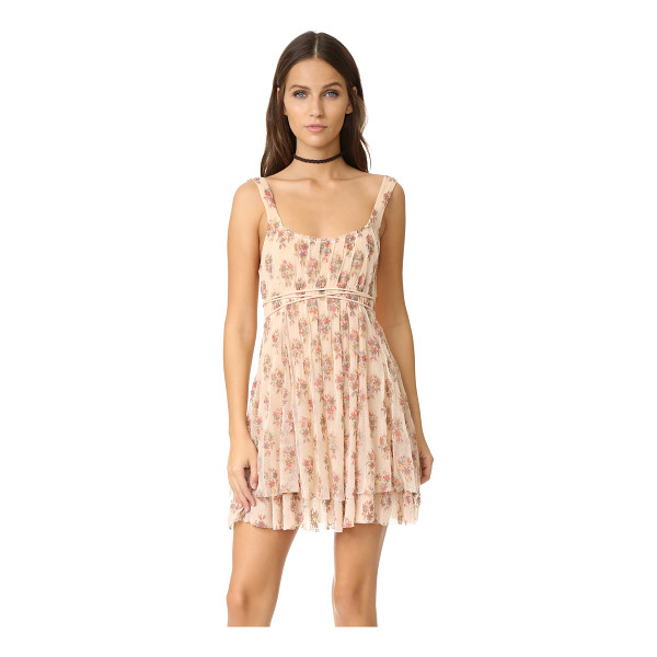 FREE PEOPLE heart it races mini dress - Floral gauze composes this charming Free People mini dress....