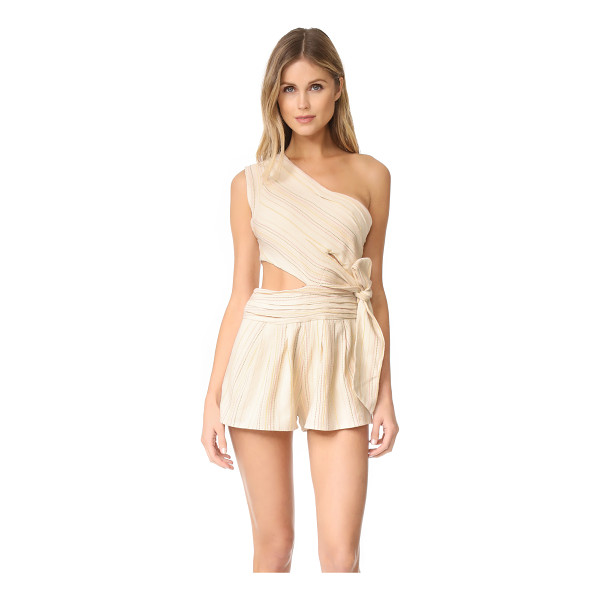 FREE PEOPLE hot chip romper - NOTE: Runs true to size. A flirty Free People one-shoulder...
