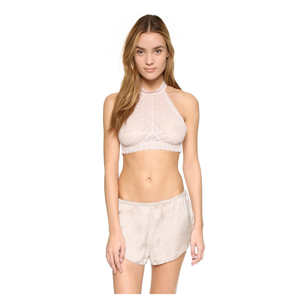 FREE PEOPLE Kiki bra - A bold, high neck Free People halter top in scalloped lace....