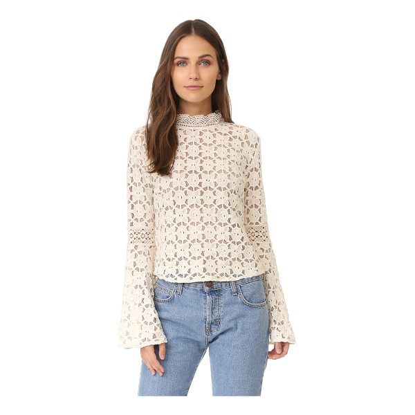 FREE PEOPLE kiss & bell lace top - A delicate lace Free People blouse with a...
