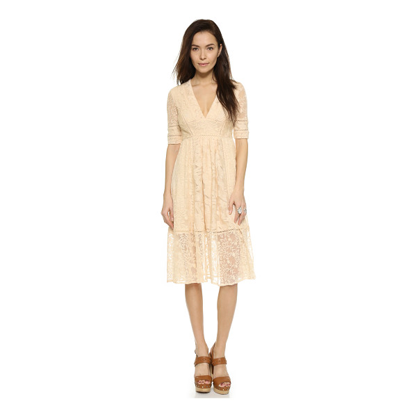 FREE PEOPLE Laurel lace dress - Allover embroidery brings intricate detail to this...