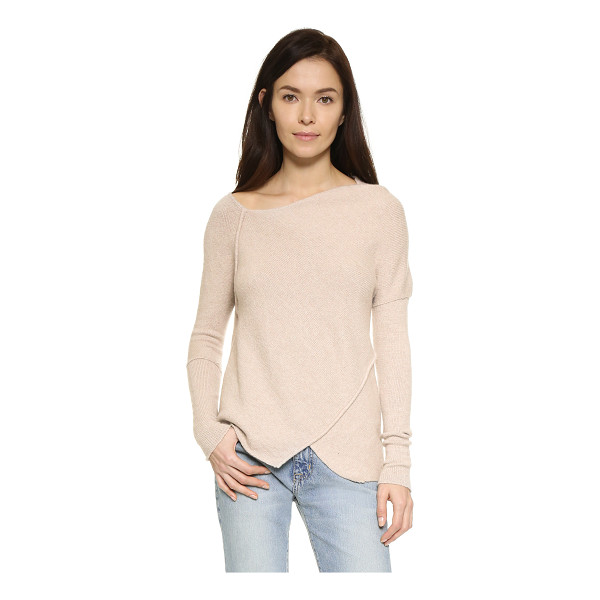 FREE PEOPLE Love & harmony sweater - Angled seams join the uneven panels on this Free People...