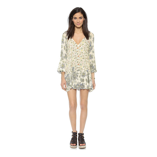 FREE PEOPLE Lucky lossey dress - A vintage floral print lends a romantic touch to this gauzy...