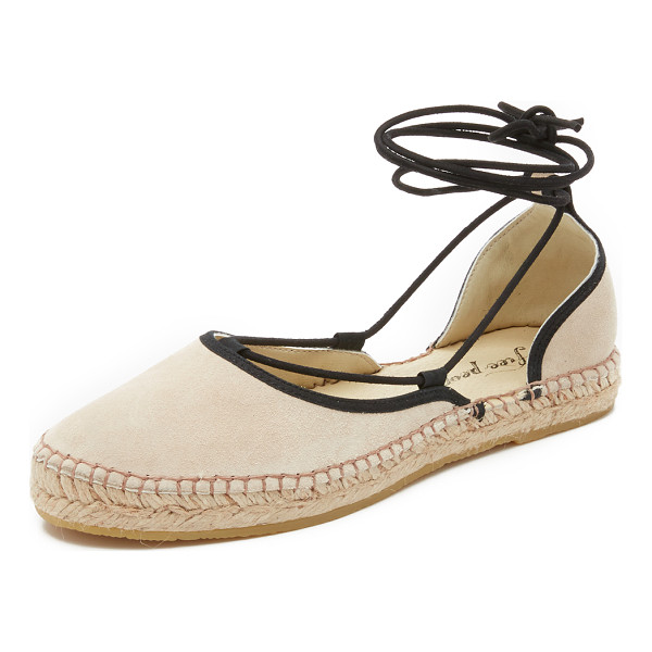 FREE PEOPLE Marina lace up espadrilles - Contrast laces accent these suede Free People espadrilles....