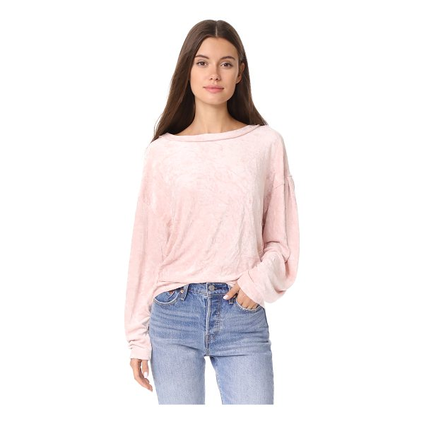 FREE PEOPLE milan layering top - This soft velour Free People shirt has a wide, banded...
