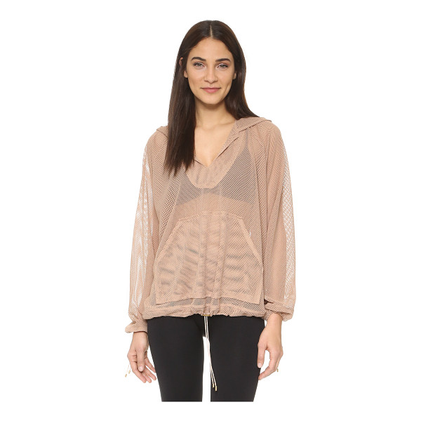 FREE PEOPLE Movement billowing hoodie - An oversized profile complements the airy feel of this...