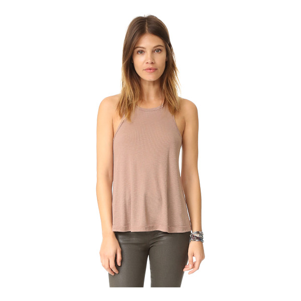 FREE PEOPLE rib slub long beach tank - An easy-to-layer Free People tank in lightweight ribbed...
