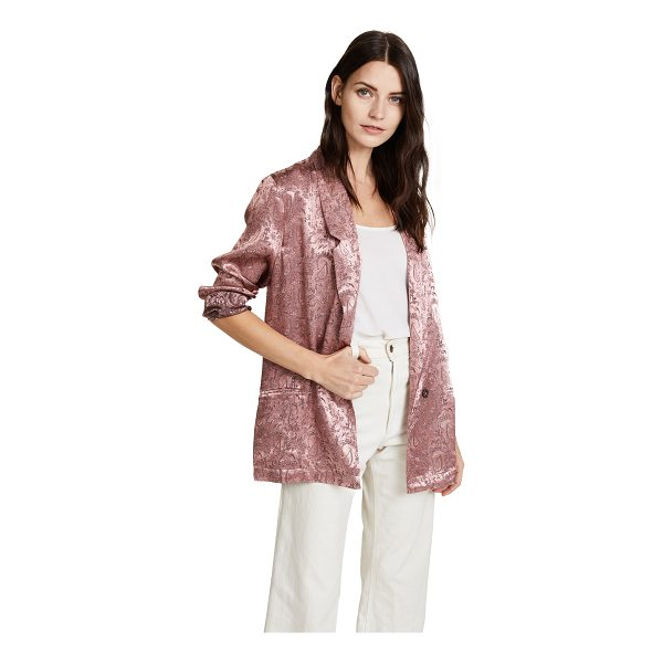 FREE PEOPLE silky jacquard blazer - A relaxed fit lends an effortless feel to this paisley...