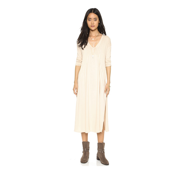 FREE PEOPLE Sophies midi tee dress - Shutter pleats frame the neckline on this relaxed Free...