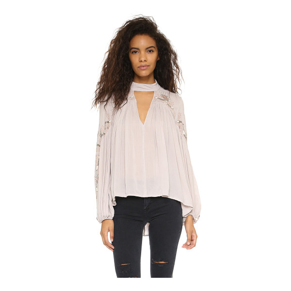 FREE PEOPLE Sweet escape blouse - Contrast embroidery and intricate beading lends a bohemian...