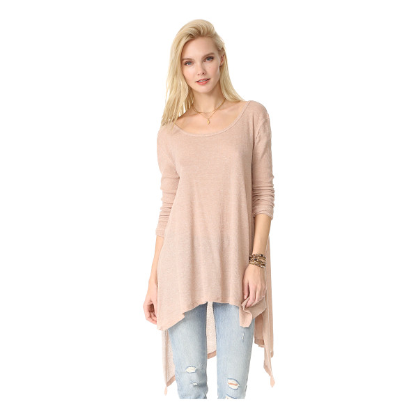 FREE PEOPLE the incredible tee - A deep scoop neckline accentuates the relaxed drape of this...