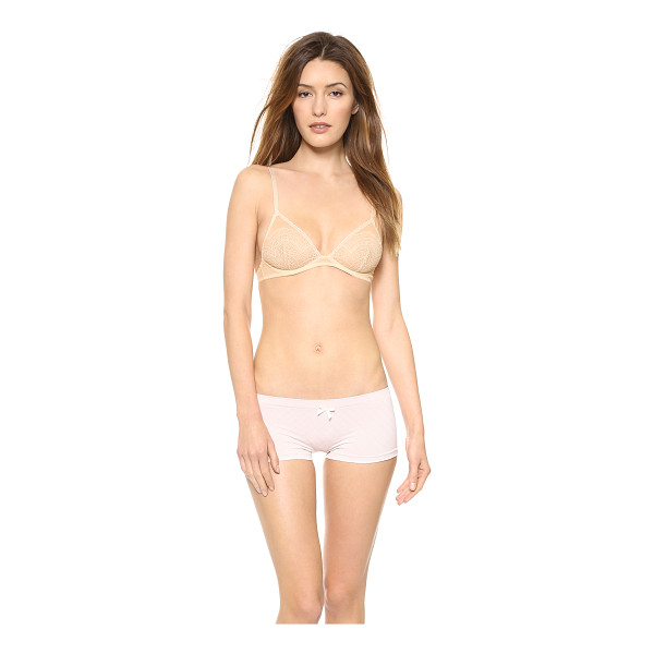 FREE PEOPLE Triangle bra - A soft cup underwire bra in delicate lace. Hook and eye...