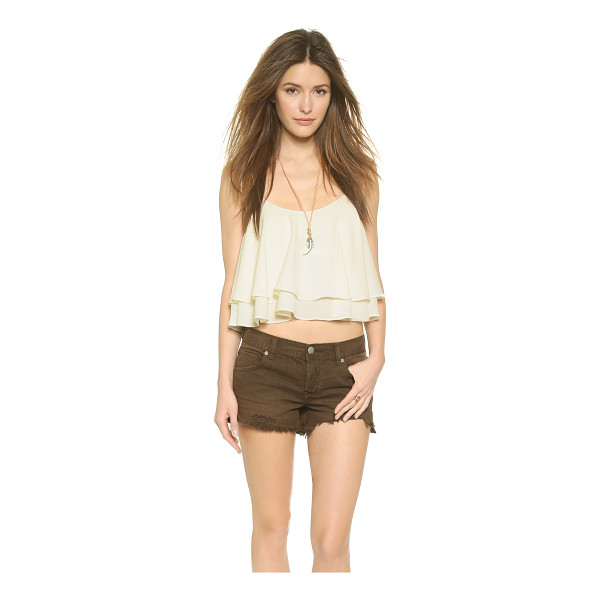 FREE PEOPLE Tropical wave crop top - A built in shelf bra forms the shell of this flounced Free...