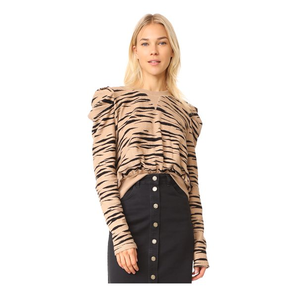 FREE PEOPLE zaza zebra pullover top - This tactile french terry Free People sweatshirt is...