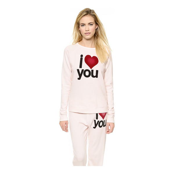 FREECITY I love you super beat sweatshirt - A sweet message adds a graphic element to this slouchy...