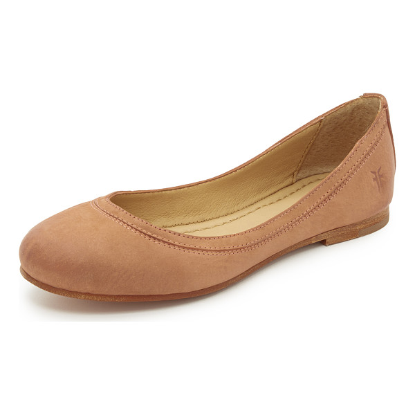 FRYE Carson ballet flats - Classic Frye ballet flats feature an embossed logo at the...