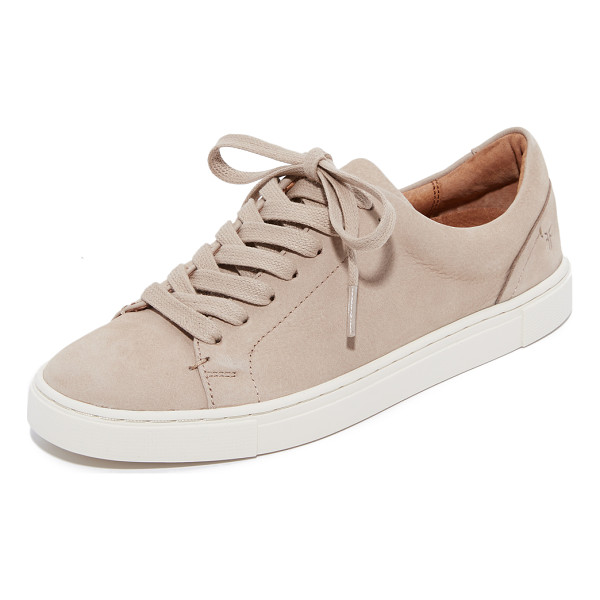 FRYE ivy low lace sneakers - These luxe nubuck Frye sneakers have a classic look with...