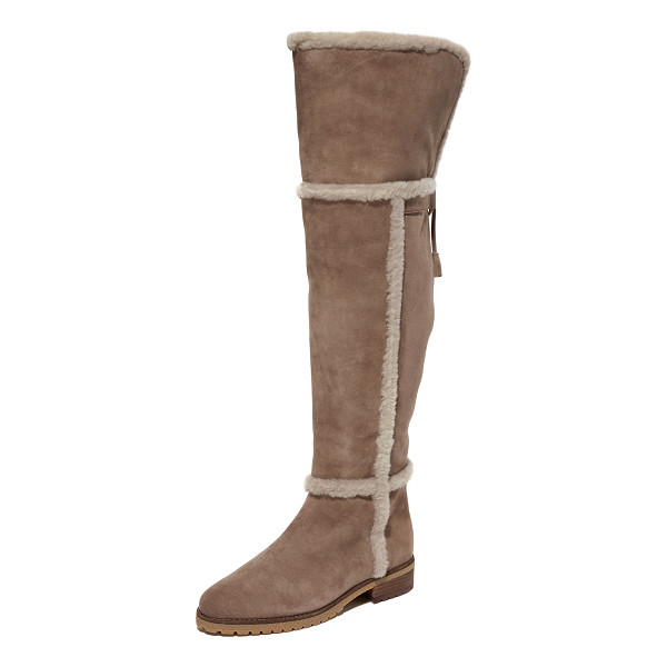 FRYE tamara shearling over the knee boots - These over-the-knee Frye boots are crafted in velvety suede...