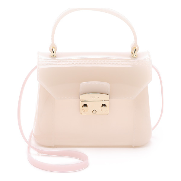 FURLA Candy bon bon mini cross body bag - A petite Furla bag in structured rubber. Polished hardware