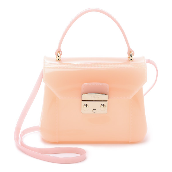 FURLA Candy bon bon mini cross body bag - A petite Furla bag in structured rubber. Coated,...
