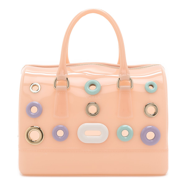 FURLA Candy bubbles medium satchel - Furla adds a collection of polished metal and glossy