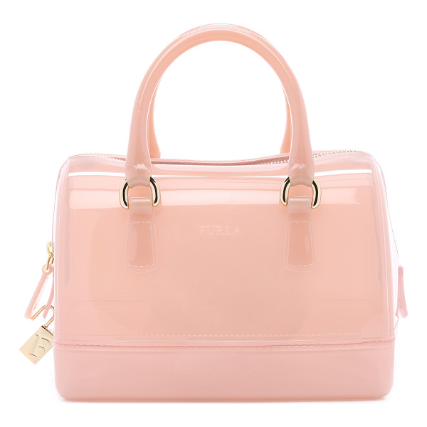 FURLA Candy cookie mini satchel - A petite Furla tote composed of soft, yet resilient rubber....