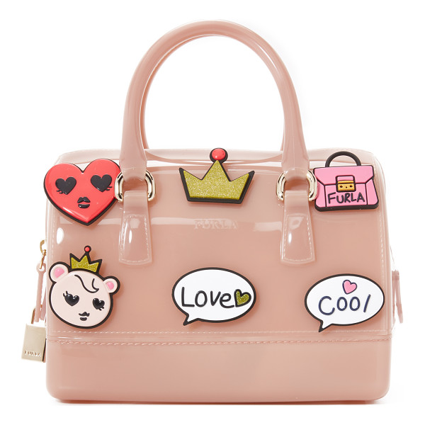 FURLA Candy cookie mini satchel - A boxy Furla satchel in structured rubber. Wraparound zip.